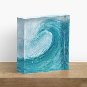 Acrylic Block Wave Scene